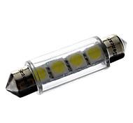 Недорогие -Фестон Автомобиль белый 1 Вт. SMD 5050 6000-6500 Лампа для чтения Лампа освещения номерного знака