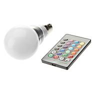 b22 3w высокой мощности привело 300-350lm цвет изменения пульта дистанционного управления лампочки переменного тока 85-265 v