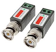 Недорогие -1 канал пассивный CCTV видео трансивер ч / б: 600 Цвет: 400 м 10 см