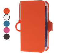 For Samsung Galaxy Case Card Holder / with Stand / Flip Case Full Body Case Solid Color PU Leather Samsung S4