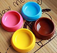 cerchio forma plastica pet ciotola di cibo per cani gatti (colori assortiti, taglie)