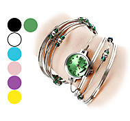 cheap -Women's Bracelet Watch Fashion Watch Quartz Hot Sale Alloy Band Bangle Silver