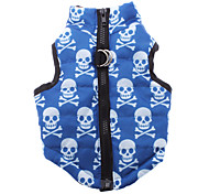 Dog Coat Vest Dog Clothes Breathable Skulls Costume For Pets