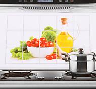 75x45cm овощи модели масл-доказательство водонепроницаемый кухня стикер стены
