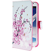 Mini Elegant Flower Pattern PU Leather Case with Stand and Card Slot for Samsung Galaxy Note 2 N7100