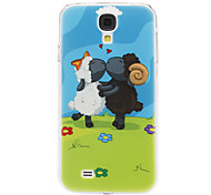 cheap -For Samsung Galaxy Case Pattern Case Back Cover Case Animal PC Samsung S4