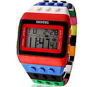 cheap -Women's Digital Watch Alarm / Calendar / date / day / Chronograph Plastic Band Candy color / Wood / Fashion
