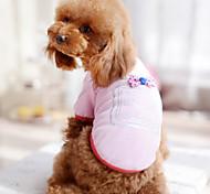 Cane T-shirt Abbigliamento per cani Fiocco Bianco Nero Rose Blu Rosa Costume Per animali domestici