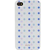 Abweichungen Concise Lila und Blau Runde Punkt-Muster Smooth Surface PC Hard Case für iPhone 4/4S