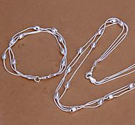Недорогие -зеленый цвет медь трех- свет браслет из бисера ожерелье lknspcs140