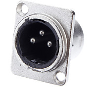 XLR 3-ядра сварной адаптер Никелированные Мужской фонд для КТВ микрофона