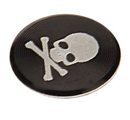 Skull Print Alloy Black Home Button Sticker for iPhone/iPad/iPod