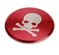 Skull Print Alloy Red Home Button Sticker for iPhone 8 7 Samsung Galaxy S8 S7/iPad/iPod