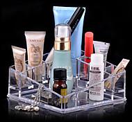 Aufbewahrung für Make-Up Kosmetik Box / Aufbewahrung für Make-Up Acryl einfarbig 13.5 x 13.5 x 7.0