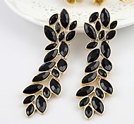 cheap -2013 New Coming Elegant Alloy Leaf Shape Fashion Rhinestone Earrings Jewelry