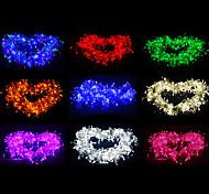 Недорогие -10 м Гирлянды 100 светодиоды Тёплый белый RGB Белый Зеленый Желтый Синий Красный Меняет цвета 220V