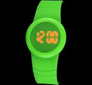 Men's Sport Watch Digital LED Touch Screen Calendar Water Resistant / Water Proof Band Black Blue Orange Green Pink Purple Yellow