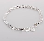 Twisted Alloy Silver Plated Women's Bracelet