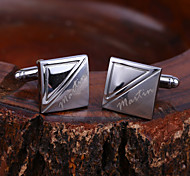 cheap -Personalized Gift Cufflinks Stainless Steel Unisex Classic Gift