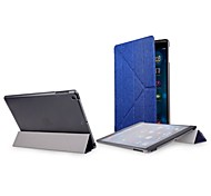 4-Fold Elegant Full Body Leather Case for iPad Air (Assorted Colors)