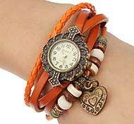Women's Heart Pendant Leather Band Quartz Analog Bracelet Watch (Assorted Colors) Cool Watches Unique Watches