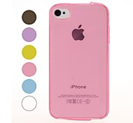 Solid Color Smooth Surface Soft TPU Case for iPhone 4/4S