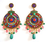 cheap -Women's Drop Earrings - Rainbow Round Earrings For Wedding Party Daily Casual