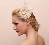 Women's Feather Fabric Headpiece-Casual Flowers Classical Feminine Style