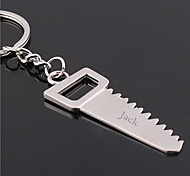 cheap -Personalized Engraved Gift Creative Saw Shaped Keychain