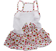 cheap -Dog Dress Dog Clothes Fruit White Cotton Costume For Pets Women's