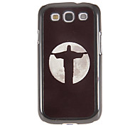 cheap -Jesus Cross Pattern Mirror Smooth Back Hard Case with HD Screen Film 3 Pcs for Samsung Galaxy S3 I9300