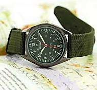 cheap -Men's Wrist watch Military Watch Quartz Water Resistant / Water Proof Fabric Band Black Green
