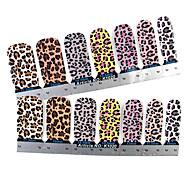 28PCS Full-tip Leopard Print Nail Art Stickers Decals