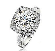 Claic Lady' 2.5CT Clear imulated Diamond Wedding Ring   Elegant Style