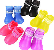 Dog Shoes & Boots Waterproof Solid Black Purple Yellow Red Blue For Pets