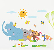 cheap -Wall Stickers Animal Children Room Bedroom Background Wall Decoration Waterproof Poster
