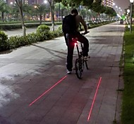 Bike Lights Rear Bike Light Laser LED Cycling Waterproof Strike Bezel Warning Laser LED Light Lumens Battery Camping/Hiking/Caving