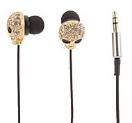 Schädel-Form Gold-Stereo-In-Ear-Kopfhörer (Small Eyes)