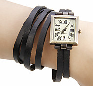 cheap -Women's Wrist watch Bracelet Watch Fashion Watch Japanese Quartz Hot Sale Genuine Leather Band Bohemian Black Green Khaki