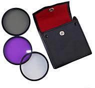 52mm UV + CPL + FLD 3-в-1 Набор с ПУ кожаный мешок