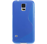 cheap -S Shape Design Transparent Soft Plastic Back Case Cover for Samsung Galaxy S5 I9600