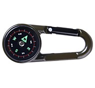 cheap -High Quality Double Faced Key Chain Compass + Thermometer