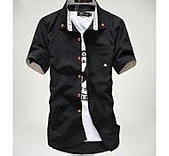 Недорогие -Рубашка мужская с коротким рукавом, повседневный стиль