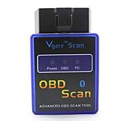 ELM327C Super Mini V1.5 Bluetooth OBD-II Car Auto Diagnostic Scanner Tool - Blue + Black (12V)