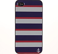 Three Color Stripe Pattern PC Hard Case with Black Frame for iPhone 4/4S