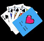Padrão presente personalizado Coração azul do cartão de jogo para Poker
