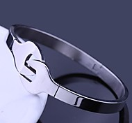 Personalized Gift  Jewelry Wrench Design Stainless Steel  Engraved Cuff Bracelets 1cm Width
