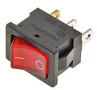 Rocker Switch 3-Pin ON/OFF (Red&Black,6A,AC 250V/10A,AC 125V)