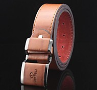 cheap -Men's Casual Leather Alloy Buckle Waist Belt - Solid Colored