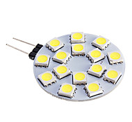 G4 LED Spotlight 15 leds SMD 5050 Warm White Cold White 480lm 5500-6500K DC 12V